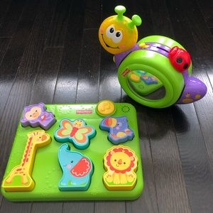 Fisher-Price Bundle - Puzzle and Crawl Along Snail